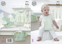 "4976 Knitting Pattern - Babies 4ply 14 - 22"""