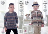 4916 Knitting Pattern - Children's Splash Double Knit