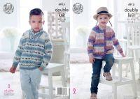 4915 Knitting Pattern - Children's Splash Double Knit
