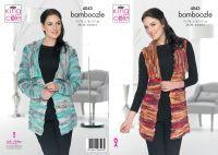 4043 Knitting Pattern - Ladies Jacket & Waistcoat in Bamboozle