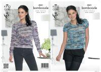 4041 Knitting Pattern - Ladies Sweater & Top in Bamboozle