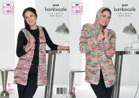 4049 Knitting Pattern - Ladies Jacket & Waistcoat in Bamboozle