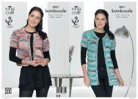 4051 Knitting Pattern - Ladies Cardigan & Sweater in Bamboozle