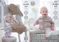 "4910 Knitting Pattern - Babies 14 - 22"" Easy Knit"