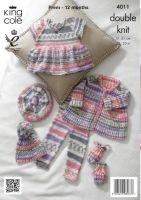 """4011 Knitting Pattern - Babies 12 - 20"""""""