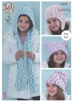 4538 Knitting Pattern - Hats & Scarfs in Yummy