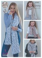 4540 Knitting Pattern - Ladies Shawls & Girls Scarves