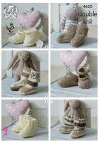 4652 Knitting Pattern - Babies Socks, Booties & Shoes