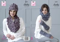 5191 Knitting Pattern - Accessories in Shadow Chunky