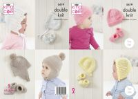 5419 Knitting Patterns - Babies Hats  & Bootees