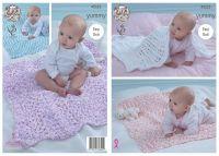 4533 Knitting Pattern - Babies Blankets in Yummy