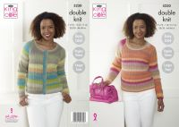 5230 Knitting Pattern - Ladies Double Knit (Easy Knit)
