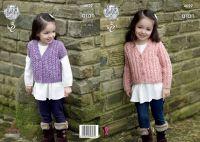 """4629 Knitting Pattern - Girls Aran 20 -28"""""""