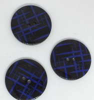 Black & Blue Button - P1823B