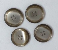 Large Beige Brown Button size 44
