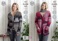 5023 Knitting Pattern - Ladies Double Knit Cardigans 32 - 50