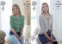 4833 Knitting Pattern - Ladies Double Knit Cardigan 32 - 42