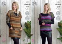 5021 Knitting Pattern - Ladies Tunic and Top in DK