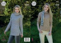 4963 Knitting Pattern - Ladies Sweater's in Aran