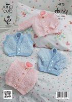 "4175 Knitting Pattern - Babies - Chunky 14 - 22"""