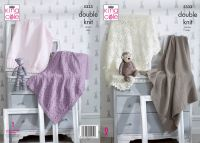 5333 Knitting Pattern - Baby Blankets Double Knit