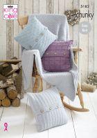 5182 Knitting Pattern - Blanket & Cushions