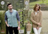 4626 Knitting Pattern - Aran Men's and Ladies 28/30 - 46/48