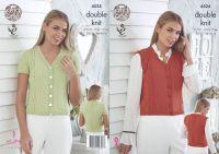"""4524 Knitting Pattern - Ladies DK 28/30 - 44/46"""""""
