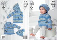 "4309 Knitting Pattern - Babies Double Knit 14 - 22"""