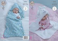 4534 Knitting Pattern - Cocoon & Blanket