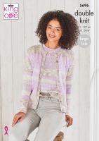 5696 Knitting Pattern - Ladies DK 32 - 50