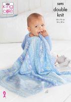 5695 Knitting Pattern - Baby Blankets