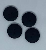 Plain Black Button - P129