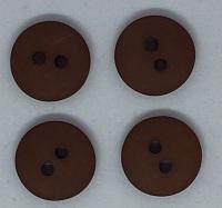Plain Brown Button - P129/424