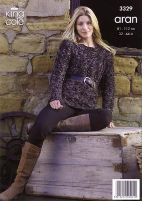 3329 Aran Knitting Pattern - Ladies 32