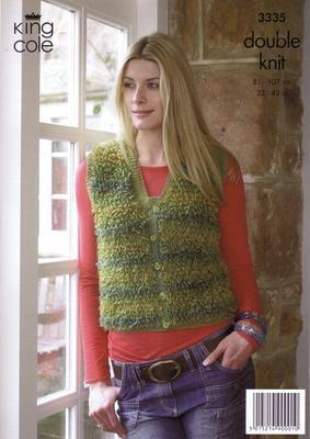 """3335 DK Knitting Pattern -Ladies 32""""-42""""*"""