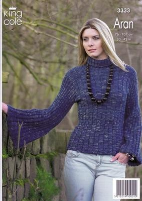 3333 Knitting Pattern - Aran 30