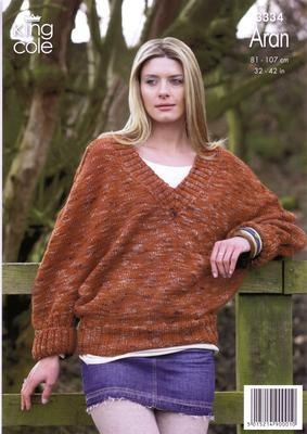 3334 Knitting Pattern - Aran 32