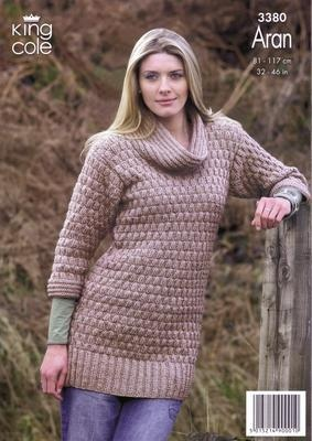 3380 Knitting Pattern - Aran 32