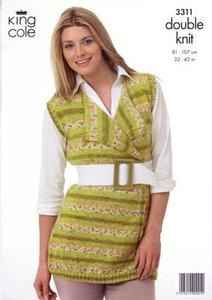 3311 Knitting Pattern - Double Knit Ladies 32
