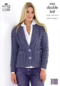 3362 Knitting Pattern Double Knit - 28/30 - 44/46