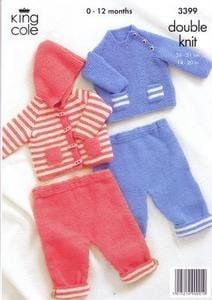 3399 Knitting Pattern - Babies DK 14