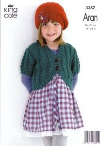 """3387 Knitting Pattern Aran - 18"""" - 28"""" Girls*"""