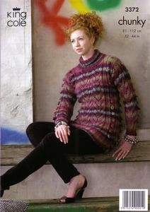 "3372 Knitting Pattern Chunky - 32"" - 44"" Ladies*"