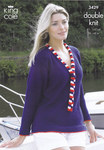 "3429 Knitting Pattern - Double Knit Ladies 32"" - 42""*"