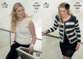 3379 Knitting Pattern - DK Galaxy - Ladies