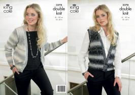 3378 Knitting Pattern - DK Galaxy - Ladies