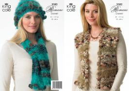 3382 Knitting Pattern - Romano Chunky 32 - 46