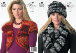 "3383 Knitting Pattern - Romano Chunky 32 - 46"" Ladies*"