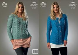 3440 Knitting Pattern - Chunky 32